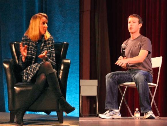 Dress code comparison between Marissa Mayer and Mark Zuckerberg