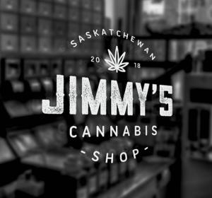 Entrance to Jimmy's Cannabis Shop in Saskatchewan