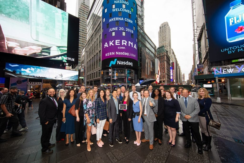 The launch of Akerna on Nasdaq