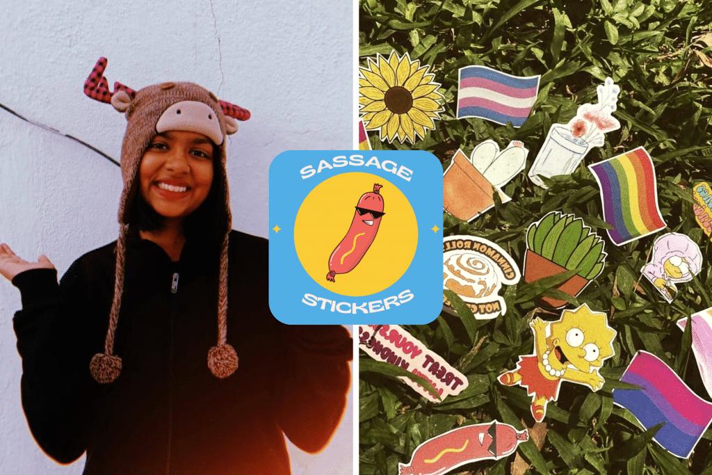 Sassage Stickers and Laksha