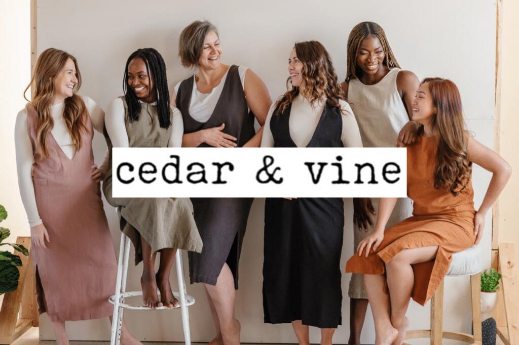 Sustainable clothing brand Cedar & Vine